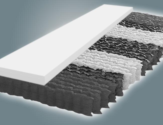 taschenfederkern matratze 500 federn mit kaltschaum rg 60. Black Bedroom Furniture Sets. Home Design Ideas